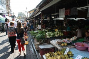 Besuch auf dem lokalen Markt