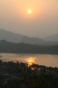Sonnenuntergang über Luang Prabang