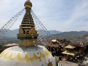 Eine der schönen Flecken in Kathmandu, der Swayambhu-Tempel