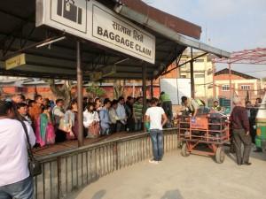 Baggage-Claim am Domestic-Terminal des Kathmandu-Airports